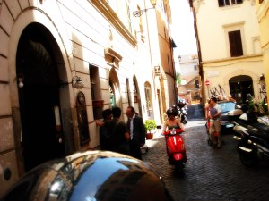 Hard to get home sick when you get to go scooting through Rome