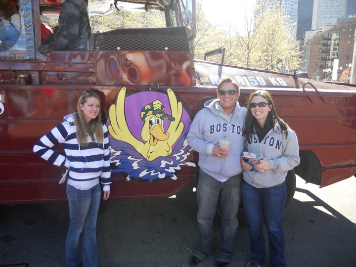 Two friends and I, prepping for one of Boston's infamous Duck Tour before my grand departure to Paris
