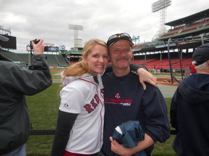Me and my Dad at a Sox game, and the Red Sox shirt I wore to celebrate the Bruins