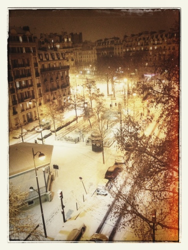 "Paris is still pretty, even ""under"" the snow"